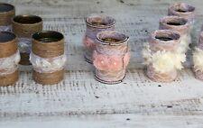 Wedding Decor Handmade 19 Rustic Flower Vases Tin Cans Centerpiece Burlap Jute