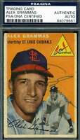 Alex Grammas 1954 Topps Psa Dna Coa Autograph Authentic Hand Signed