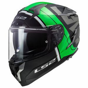 LS2 Challenger HPFC FF327 Randy Matt Black / Green Motorcycle Motorbike Helmet