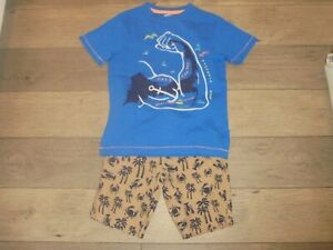 Gymboree Cape Cool beige palm tree shorts with matching shirt outfit set size 7