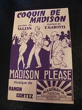 Partitur Coquin Madison F Gabutti Madison Please Ramon Cortez