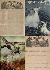 1890 OLD ISSUES OF FOREST & STREAM (1873-1922) FISHING HUNTING OUTDOOR ON 3 DVDs