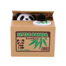 Cute Automatic Panda Piggy Bank  Stealing Coin Saving Money Box Child Kids Gift