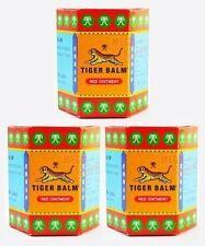 3 x TIGER BALM RED HERBAL RUB MUSCLES PAIN RELIEF HEADACHE 30 g.(BIG JAR)