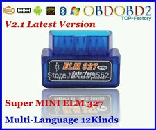 Super Mini elm 327 ELM327 Bluetooth USB V2.1 OBD2 OBDII