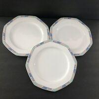 """Christopher Stuart SOUTHWEST Octagon Dinner Plates 10.25"""" Across Set of 3"""