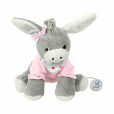 Spieluhr Esel Emmi Girl 20cm rosa/grau