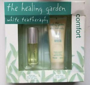 Healing Garden White Tea Eau de Parfum (1.5 oz) & Body Lotion (7 oz) New in box