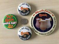 Lot of 4 Kahlua Alcohol Black Russian Pina Colada Pinbacks Buttons #BB1843