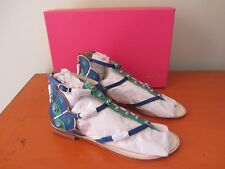 Kate Spade New York - Soto Sandals - 7M - Peacock Cobalt Shoes - NEW IN BOX