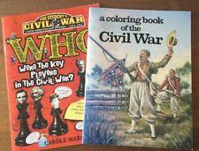 LOT of 2 CIVIL WAR BOOK AND CIVIL WAR COLORING BOOK