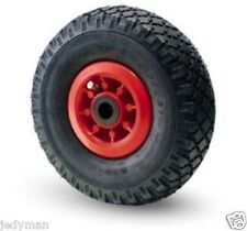 Wheel Wheels Pneumatic for Trolleys manuals Plate in plastic dmm.260x85 153 Kg