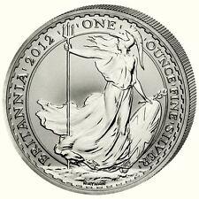 Britannia 2012 UK 2 Pfund 1 Unze .958er Silber BU in der original Folie!