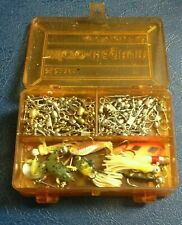 New listing Vintage Plano 3214 Micro Magnum Pocket Tackle Box 2 Sided Box W/ Flies & Lures