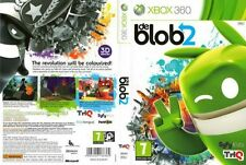 de Blob 2 Microsoft XBOX 360 *PAL FORMAT* COMPLETE Case Manual and Game Disc