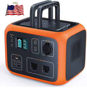 💥500Wh AC Outlet Portable Solar Power Bank Battery Generator USB Laptop CPAP