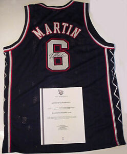 KENYON  MARTIN AUTOGRAPHED JERSEY SIZE 44, NEW JERSEY NETS  AUTHENTICITY LETTER