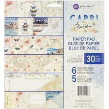 "Prima Capri Double-Sided Paper Pad 8X8"" 30/Pkg Motivblock 6x5 Designs 20x20 cm"