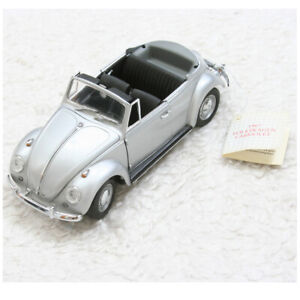 New Franklin Mint Silver Gray 1:24 1967 Volkswagen Cabriolet Convertible Toy Car
