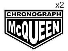 Sticker plastifié CHRONOGRAH Steve MC QUEEN Mcqueen BMW - Le Mans- 8cm x 5,3cm