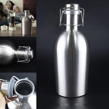 64oz Swing Top Hip Flask Stainless Steel Ultimate Beer Growler Botella Bottle 2L