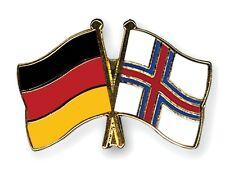 Germany & Faeroe Islands Friendship Flags Gold Plated Enamel Lapel Pin Badge