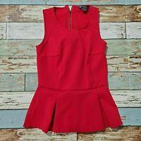 Women's Armani Exchange Red XS Sleeveless Top D-Holiday-2013 Rayon Nylon Spandex