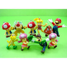 HOT Set of 10 pcs Super Mario Bros Jewelry Making Assorted Figure Charms Pendant