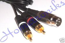 AUDIOPHILE 4 PIN DIN PLUG TO 2x PHONO (RCA) PLUGS CABLE, LEAD FOR QUAD - 0.5M