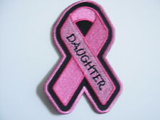 PINK RIBBON BREAST CANCER AWARENESS PATCH--DAUGHTER