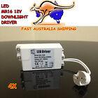4X LED 12V Driver Transformer Constant Voltage MR16 Light Bulb Downlight Holder