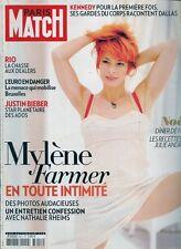 PARIS MATCH N° 3211--MYLENE FARMER EN TOUTE INTIMITE/KENNEDY/BIEBER/RIO