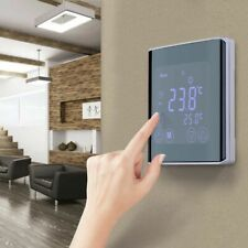 Smart Heating Thermostat Lcd Display Touchscreen Room Temperature Controller