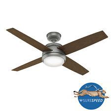 """Hunter 52"""" Indoor/Outdoor Ceiling Fan Oceana WeatherMax Matte Silver 59616"""