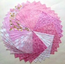"""40 - 5""""  Pink Quilt Fabric Squares 100% Cotton Charm Pack  623"""