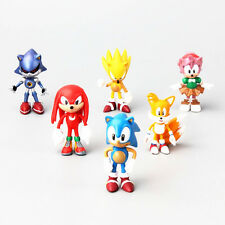 "New Sonic The HEDGEHOG Characters PVC 2.2"" 6pcs Figure Set Playing Games Model"