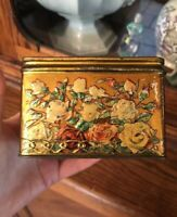 Antique Gorgeous Roses WISSOTZKY Imperial Russian Tea Tin Box