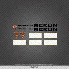 01454 Merlin Racing Cycles Bicycle Stickers - Decals - Transfers - Black