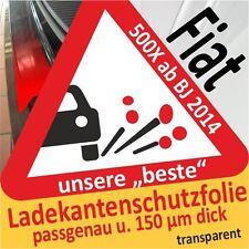 für Fiat 500X / 500 X Ladekantenschutz Folie Lackschutzfolie Schutzfolie 150µm