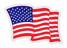 Sticker USA Waving Flag Patriot decal United States #02