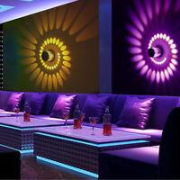 3W RGB LED Wandleuchte Spiralen Beleuchtung Flurlampe Schlafzimmer Innenlampe DE