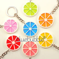 FUNKY FRUIT SLICE KEYRING CUTE KITSCH COOL FUN RETRO CANDY ACID DANCE RAVE CHARM