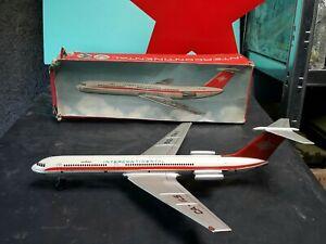 VINTAGE AIRPLANE TIN TOY JET IL 62 FRICTION CA - IL5 AIRCRAFT CCCP ORIGINAL BOX