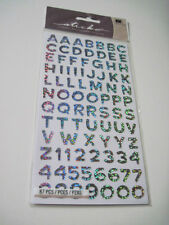Scrapbooking Crafts Stickers Sticko Alphabet Letters Numbers Silver Funhouse