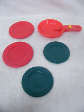 Vintage Toy Pancake Flipper with 4 Plates