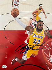 LEBRON JAMES AUTOGRAPHED SIGNED LOS ANGELES LAKERS 8x10 Photo COA