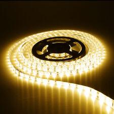 TIRA LED DE 5 M LEDS 3528 LUZ BLANCA CALIDA 12V 4,8W/M 300 LEDS RESISTENTE AGUA