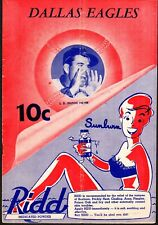 1951 DALLAS EAGLES vs FORT WORTH CATS Baseball Program/Scorecard