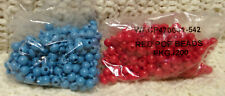 400 10mm POP BEADS 200-red 200- lt blue kids craft snap together jewelry making