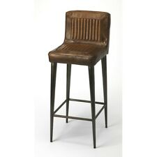 Butler Maxwell Leather Bar Stool, Dark Brown - 4347344